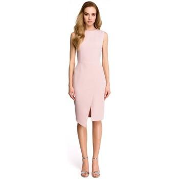 Îmbracaminte Femei Rochii scurte Style S105 Rochie fără mâneci fără mâneci - pudră