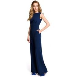 Îmbracaminte Femei Jumpsuit și Salopete Style S115 Salopeta cu picior lat - albastru marin