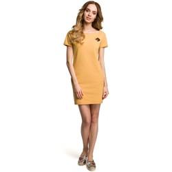 Îmbracaminte Femei Rochii scurte Moe M374 Rochie mini cu insignă - galbenă