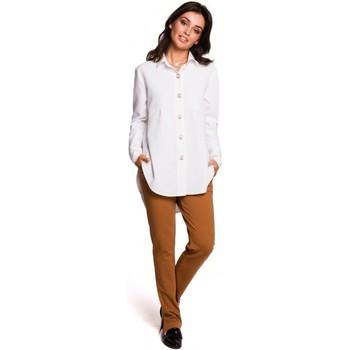 Îmbracaminte Femei Cămăși și Bluze Be B122 Cămașă cu guler - alb