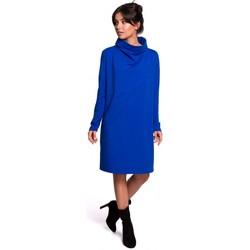 Îmbracaminte Femei Rochii scurte Be B132 Rochie cu guler înalt - albastru regal