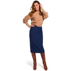 Îmbracaminte Femei Fuste Style S171 Fustă creion cu talie înaltă - albastru marin