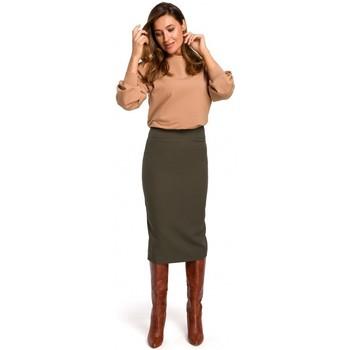Îmbracaminte Femei Fuste Style S171 Fustă creion cu talie înaltă - kaki