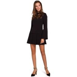 Îmbracaminte Femei Rochii scurte Makover K021 Rochie mini cu tivul de jos plisat - negru