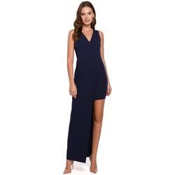 Îmbracaminte Femei Rochii lungi Makover K026 Rochie lungă asimetrică - albastru marin