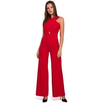 Îmbracaminte Femei Jumpsuit și Salopete Makover K029 Salopetă cu croială în față - roșu