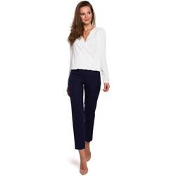 Îmbracaminte Femei Pantaloni  Makover K035 Pantaloni cu talie elastică - albastru închis