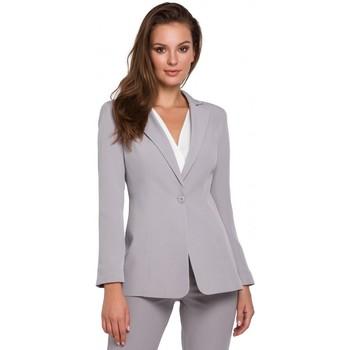 Îmbracaminte Femei Sacouri de costum Makover K036 Blazer cu un singur fund - gri