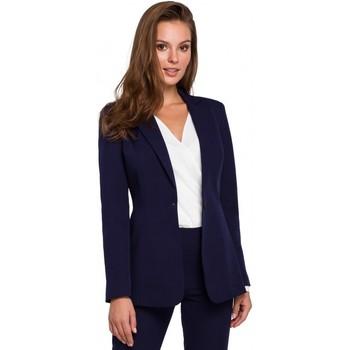 Îmbracaminte Femei Sacouri de costum Makover K036 Blazer cu un singur fund - albastru închis