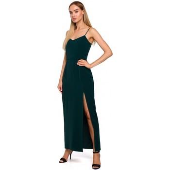Îmbracaminte Femei Rochii lungi Moe M485 Rochie de seară maxi cu despicătură înaltă - verde