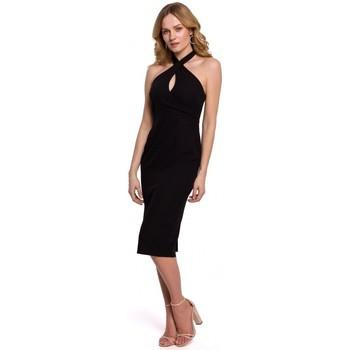Îmbracaminte Femei Rochii Makover K043 Rochie cu guler cu cravată - negru