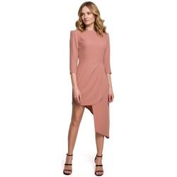 Îmbracaminte Femei Rochii scurte Makover K047 Rochie tubulară asimetrică - roz