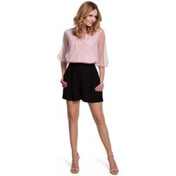 Îmbracaminte Femei Pantaloni scurti și Bermuda Makover K049 Pantaloni scurți relaxați - negru