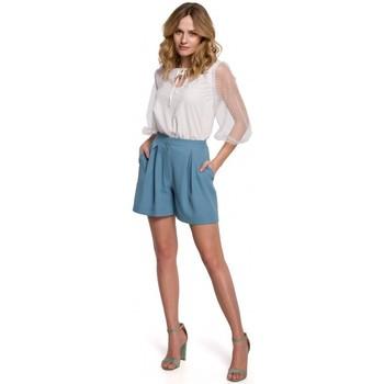 Îmbracaminte Femei Pantaloni scurti și Bermuda Makover K049 Pantaloni scurți relaxați - bleu ciel