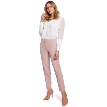 Îmbracaminte Femei Chino & Carrot Makover K055 Pantaloni cu picior subțire - crep roz