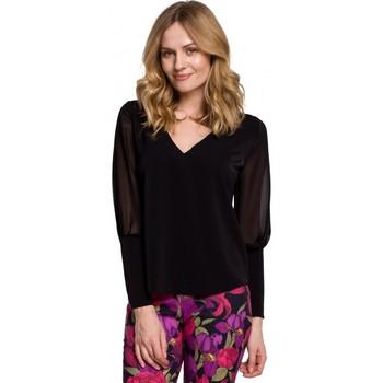 Îmbracaminte Femei Topuri și Bluze Makover K066 Bluză din sifon - negru