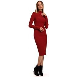 Îmbracaminte Femei Rochii lungi Moe M542 Rochie din tricot cu guler înalt - negru