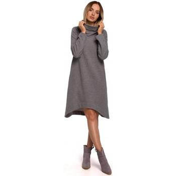 Îmbracaminte Femei Rochii scurte Moe M551 Rochie din tricot cu tiv asimetric - gri