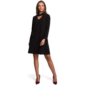 Îmbracaminte Femei Rochii scurte Style S233 Rochie Shift cu eșarfă din sifon - negru