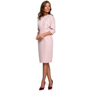 Îmbracaminte Femei Rochii scurte Style S242 Rochie cu mâneci de liliac - pudră