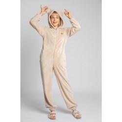 Îmbracaminte Femei Jumpsuit și Salopete Lalupa LA006 Bluză de noapte din tricot pufos - cappuccino