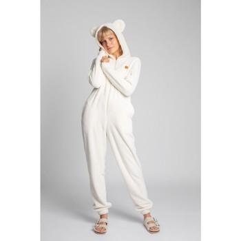 Îmbracaminte Femei Jumpsuit și Salopete Lalupa LA006 Bluză de noapte din tricot pufos - ecru
