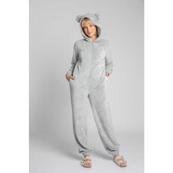 Îmbracaminte Femei Jumpsuit și Salopete Lalupa LA006 Bluză de corp din tricot pufos - gri deschis