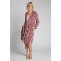 Îmbracaminte Femei Pijamale și Cămăsi de noapte Lalupa LA009 Halat de catifea cu centură cu cravată - crep roz