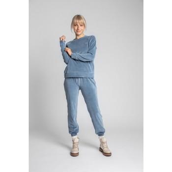 Îmbracaminte Femei Hanorace  Lalupa LA011 Pulover cu mâneci Reglan din catifea - albastru