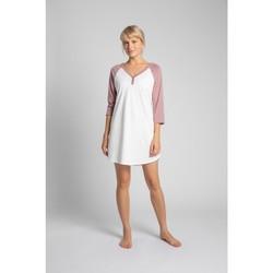 Îmbracaminte Femei Pijamale și Cămăsi de noapte Lalupa LA018 Cămașă de noapte din bumbac Colourblock - piersică