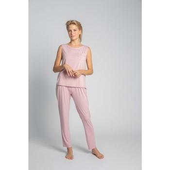 Îmbracaminte Femei Topuri și Bluze Lalupa LA022 Top fără mâneci din viscoză cu buzunar la piept - roz