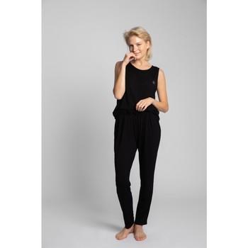 Îmbracaminte Femei Pijamale și Cămăsi de noapte Lalupa LA025 Pantaloni de pijama din viscoză - negru