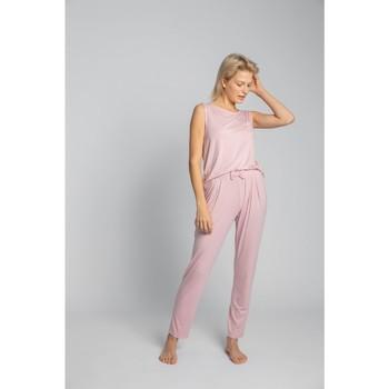 Îmbracaminte Femei Pijamale și Cămăsi de noapte Lalupa LA025 Pantaloni de pijama din viscoză - roz