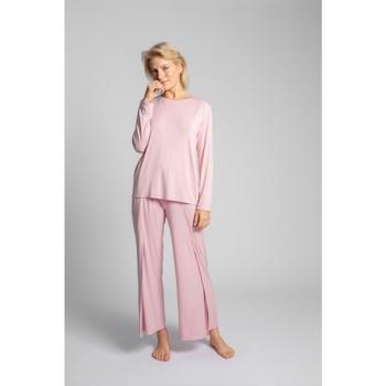 Îmbracaminte Femei Topuri și Bluze Lalupa LA027 Mâneci lungi din viscoză cu spatele deschis - roz