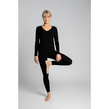 Îmbracaminte Femei Colanti Lalupa LA035 jambiere cu nervuri din bumbac pentru relaxare - negru