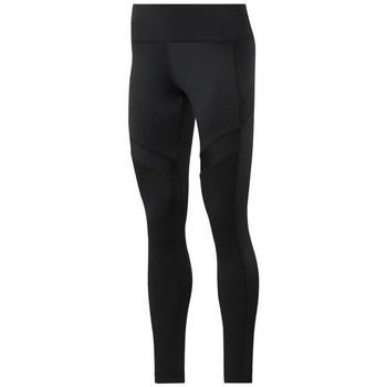 Îmbracaminte Femei Pantaloni  Reebok Sport Wor Mesh Tight Negre
