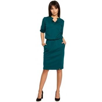 Îmbracaminte Femei Rochii scurte Be B056 Rochie tricotată tip cămașă - verde