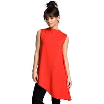 Îmbracaminte Femei Topuri și Bluze Be B069 Top asimetric fără mâneci - roșu