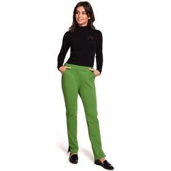 Îmbracaminte Femei Pantaloni  Be B124 Pantaloni de jogger cu șlițuri - lime