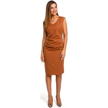 Îmbracaminte Femei Rochii scurte Style S174 Rochie fără mâneci cu încrețit în față - roșcat