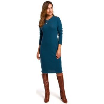 Îmbracaminte Femei Rochii Style S178 Rochie pulover cu mânecă lungă - albastru oceanic