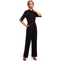 Îmbracaminte Femei Jumpsuit și Salopete Moe M463 Jumpsuij cu guler înalt - negru