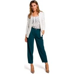 Îmbracaminte Femei Pulovere Style S198 Cardigan cu nasturi cu presiune - ecru