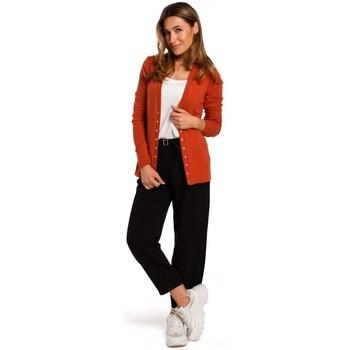 Îmbracaminte Femei Pulovere Style S198 Cardigan cu nasturi cu presiune - roșcat