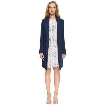 Îmbracaminte Femei Sacouri de costum Style S071 Blazer lung - albastru marin