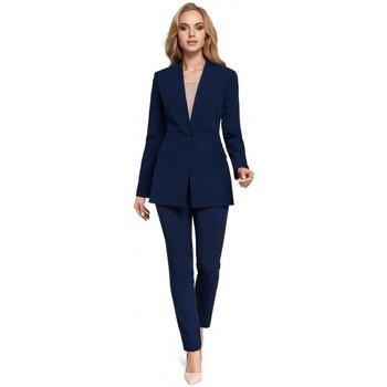 Îmbracaminte Femei Sacouri de costum Moe M304 Jachetă cu un nasture - albastru marin
