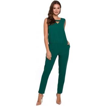 Îmbracaminte Femei Jumpsuit și Salopete Makover K009 Salopetă dintr-o bucată cu decolteu în V - verde