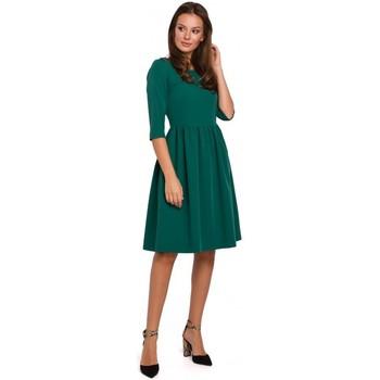 Îmbracaminte Femei Rochii scurte Makover K010 Rochie fit & flare cu talie încrețită - verde