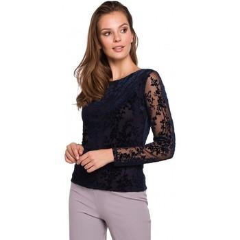 Îmbracaminte Femei Topuri și Bluze Makover K024 Bluză din dantelă Flock - albastru marin