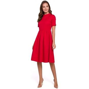 Îmbracaminte Femei Rochii Makover K028 Rochie cu guler rulat - roșu